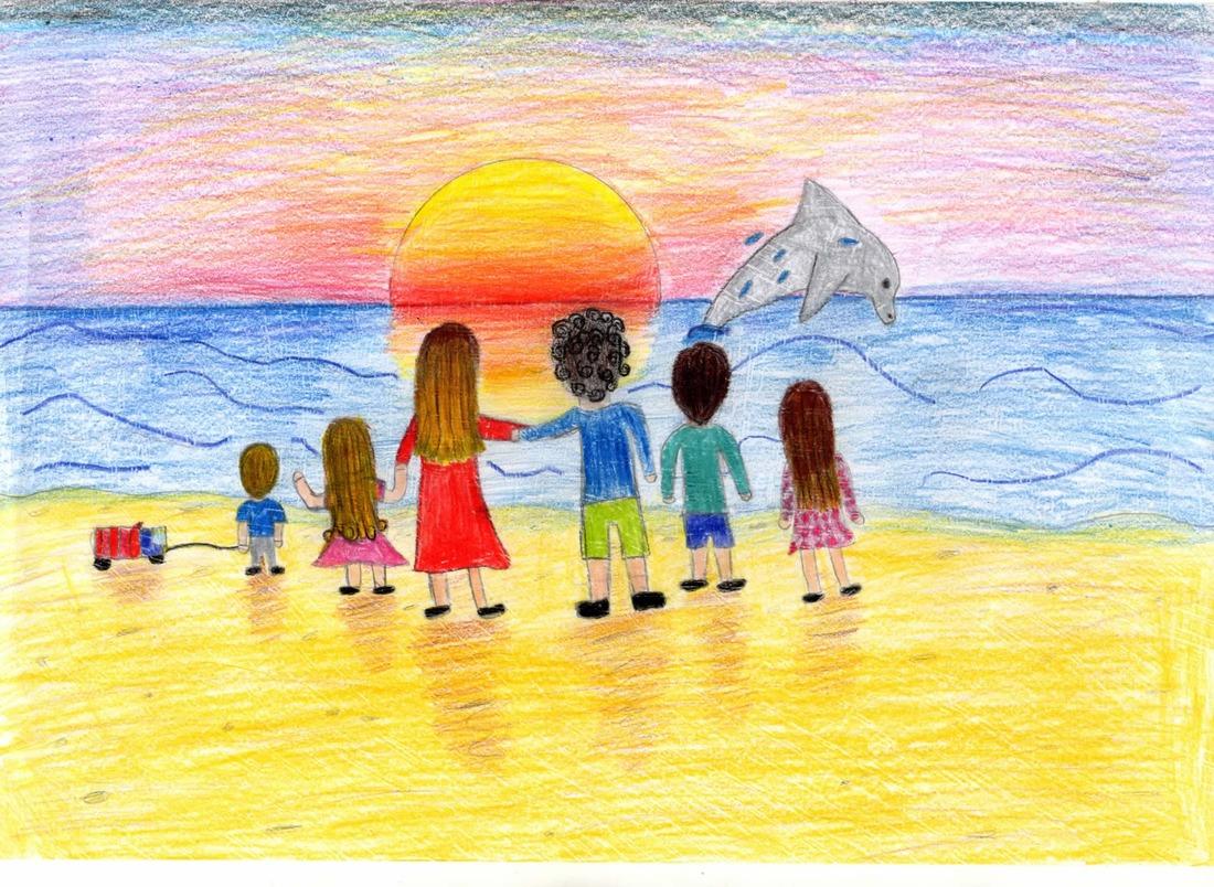 Картинки которые можно нарисовать для семьи лето нас есть